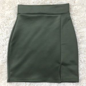 Missguided Army Green Mini Skirt